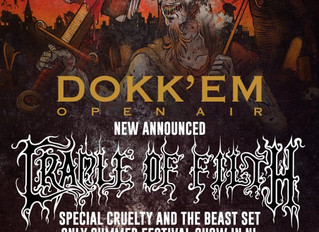 Cradle of Filth have been confirmed to play at Dokk'em Open Air 2019!