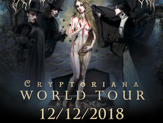 Two more shows added to the Cryptoriana World Tour!