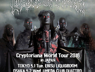 Cradle Of Filth to return to Japan in 2018!