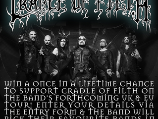 Win A Once In A Lifetime Chance To Support Cradle of Filth On The Band's Forthcoming UK & EU