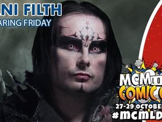 Dani Filth to attend MCM London Comic Con