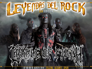 Cradle of Filth confirmed for Leyendas Del Rock Festival!