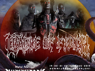 Cradle of Filth confirmed for Nummirock.