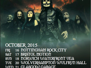 CRADLE OF FILTH Announce UK tour dates this October!