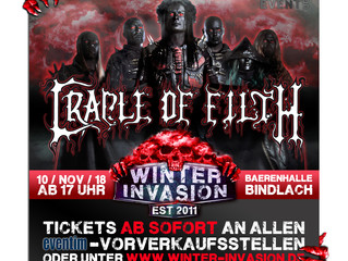 Cradle of Filth to play Winter Invasion Festival!