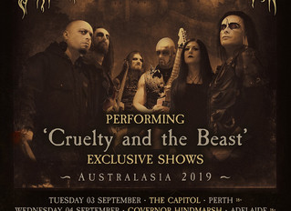Cradle of Filth announce shows in Australia and New Zealand!