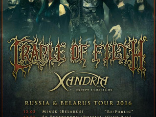 Cradle of Filth to return to Belarus and Russia!