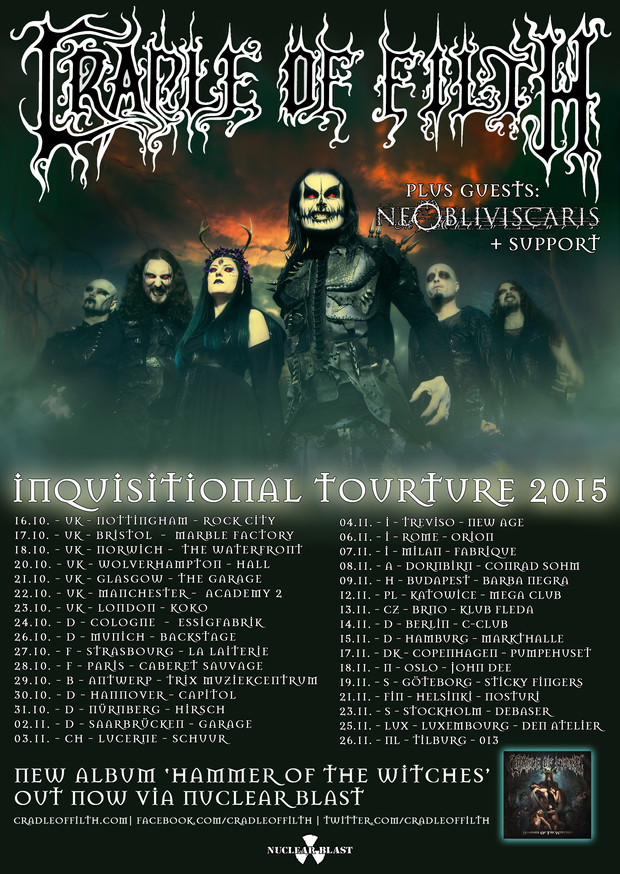 The competition to support Cradle Of Filth on their