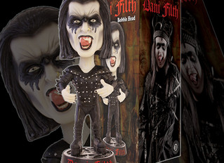 Dani Filth bobble-head now available to order.