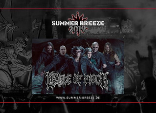 Cradle of Filth confirmed for Summer Breeze Open Air 2019!