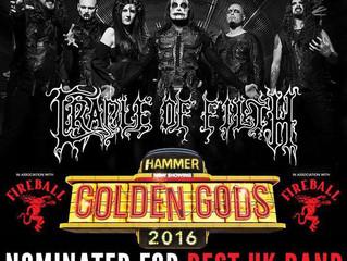 Cradle of Filth Nominated for 'Best UK Band' in the Metal Hammer Golden Gods Awards 2016