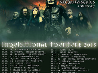 Romania has been added to our 'Inquisitional Tourture' tour with Ne Obliviscaris!  Date: 10t