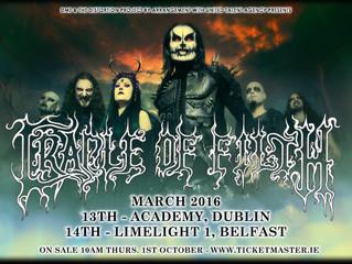 Irish Dates Announced For 2016!