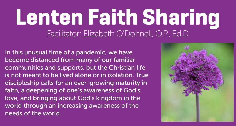 Lenten Faith Sharing