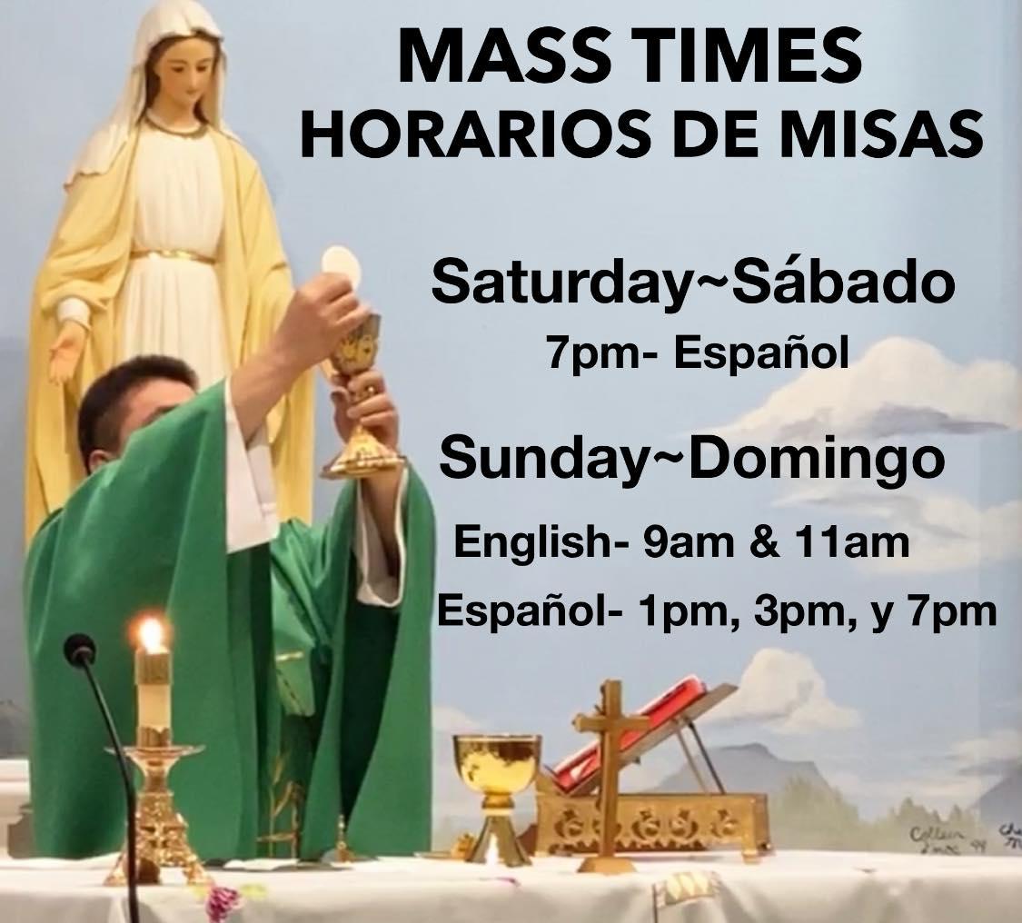 Mass Times/Horarios de Misa