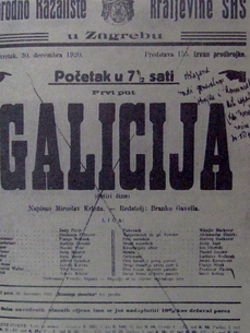 La Galicie de Miroslav Krleža, drame de l'intime et tragédie croatissime