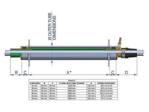"""Schroefaskoker watergesmeerd Model 3 - type """"BNF Optiprop"""""""