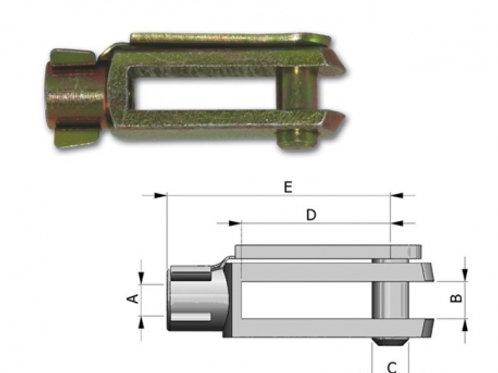 Vorkeind 33C voor Morse Kabels.