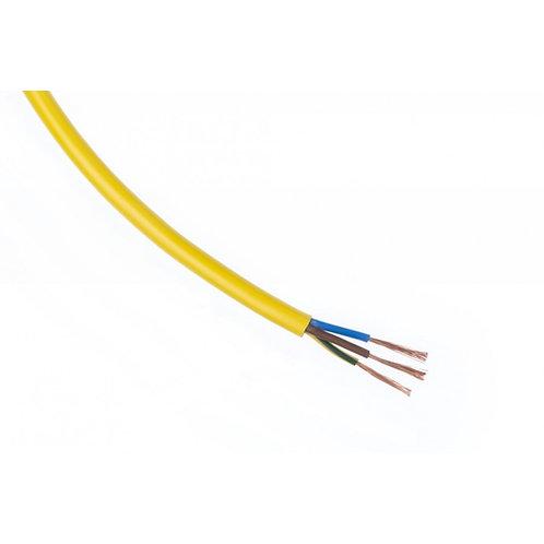 Ronde PVC kabel H05VV-F geel 3x2,5mm