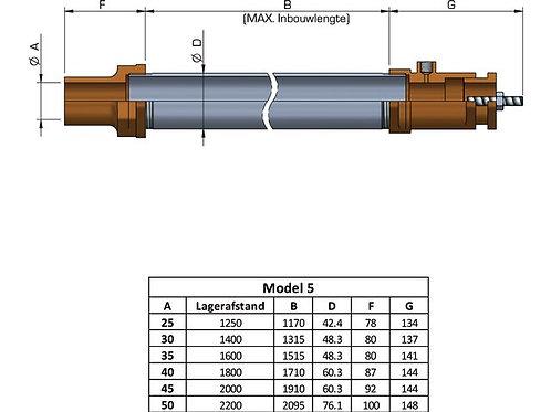 Schroefaskoker vetgesmeerd Model 5