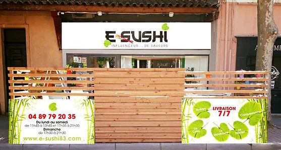 logo, enseigne e-sushi - Ma Griffe