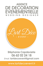 carte l'Art Déco Event - Ma Griffe