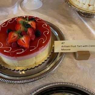#7 Artisan Fruit Tart with Creme Anglaise Mousse