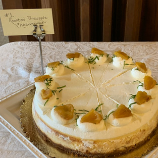 #1 Roasted Pineapple Cheesecake