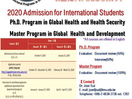 2020 Taipei Medical University Global Health Program