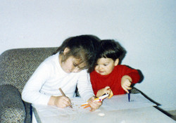 my brother and I painting