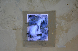 video projection on the final painting o
