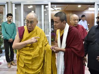HH Dalai Lama meets with Terton Pedgyl Lingpa's Yangsi in Dharamsala