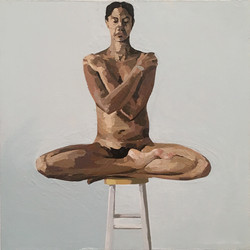 Nude with Arms and Legs Crossed