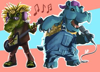 Rockodile and Hip-Hop-Hotamus