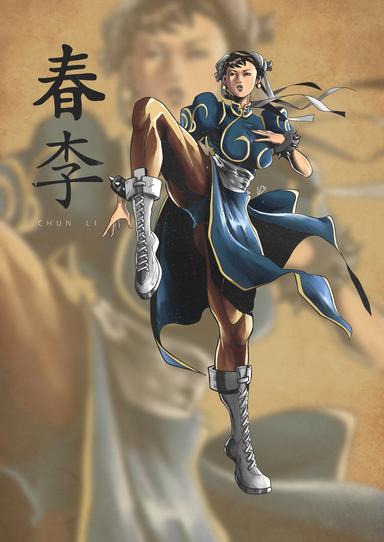 Chun Li (Street Fighter) Illustration