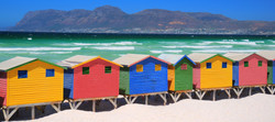 Muizenberg Beach Huts, South Africa