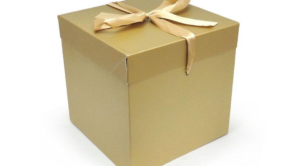 EMB Caixa Presente Dourada Pequena