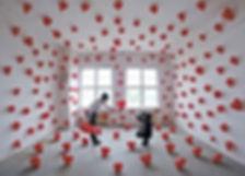 Les ballons rouges - installation artist