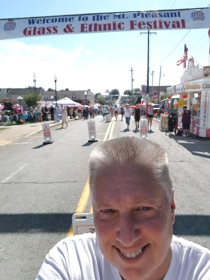Tay Waltenbaugh at a festival