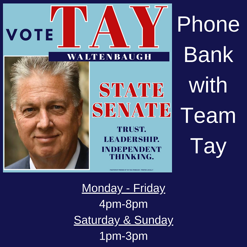 Phone Banking with Team Tay