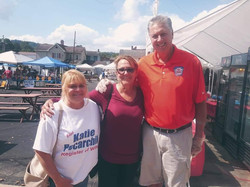 Tay Waltenbaugh with voters