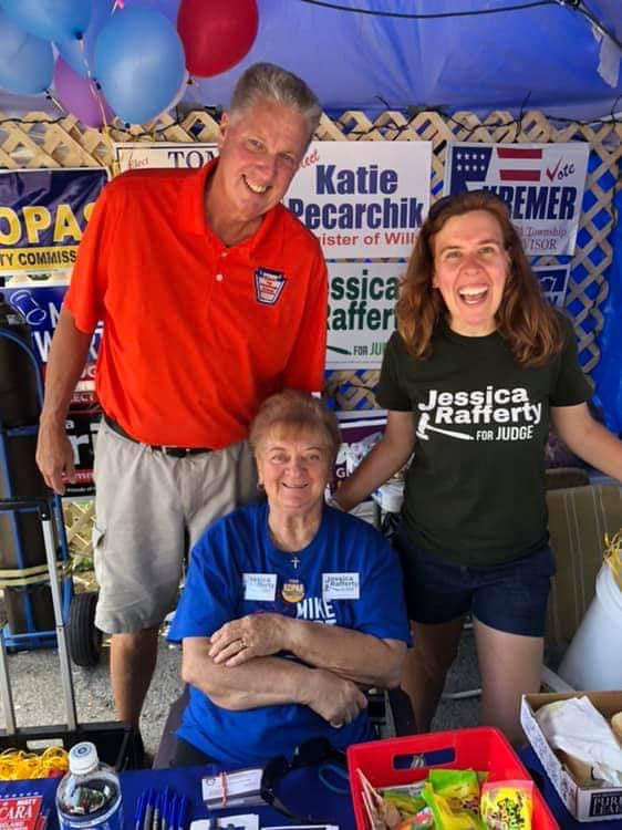 Tay Waltenbaugh with supporters