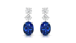 Sapphire and platinum earrings