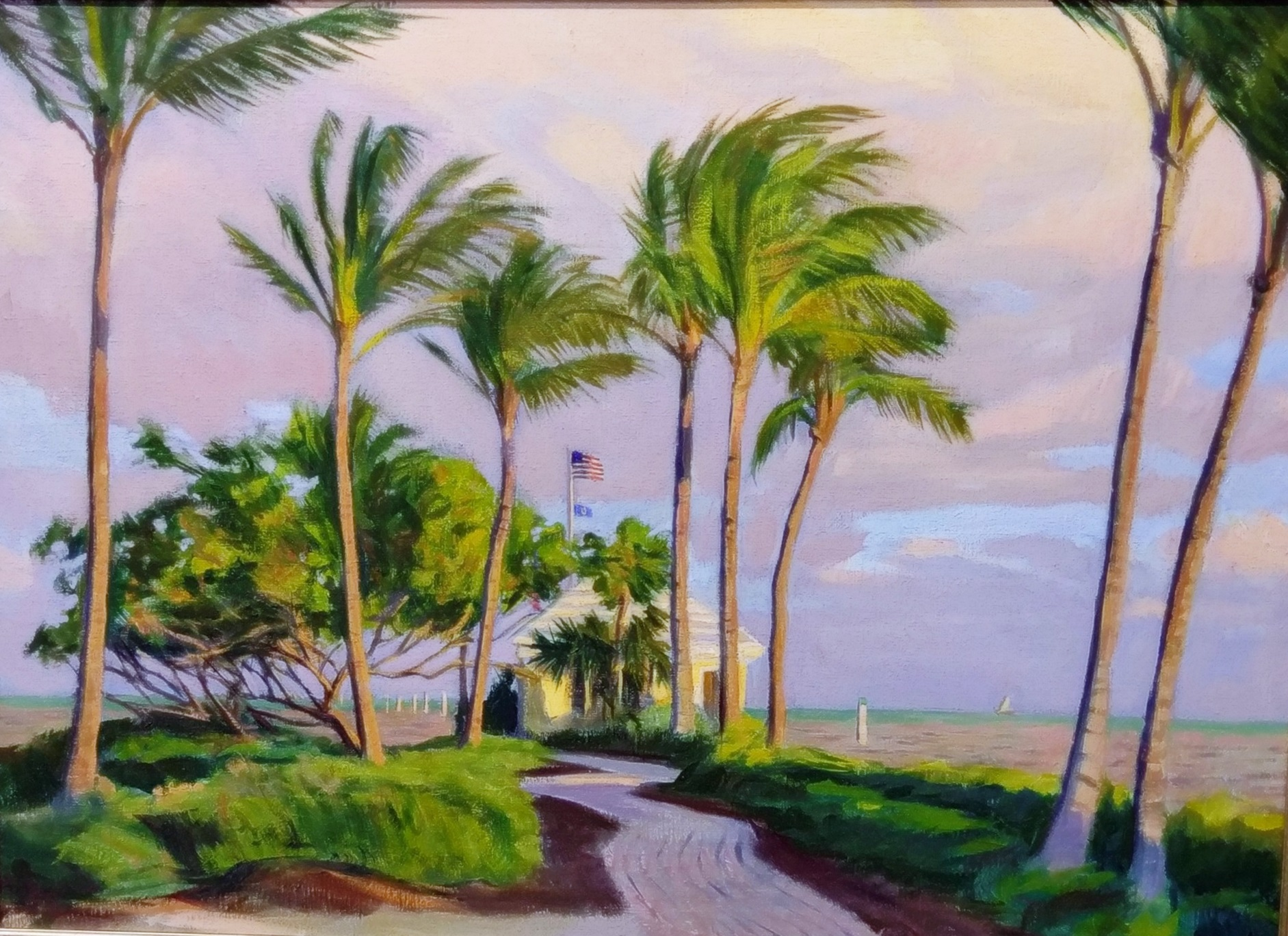 S Wood - Point Breeze, oil 28x34, fr