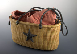 Tote basket 14 inch - ebony