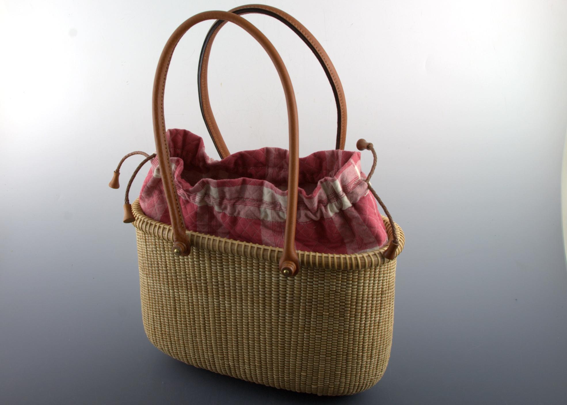 Tote basket 10 inch - mahogany
