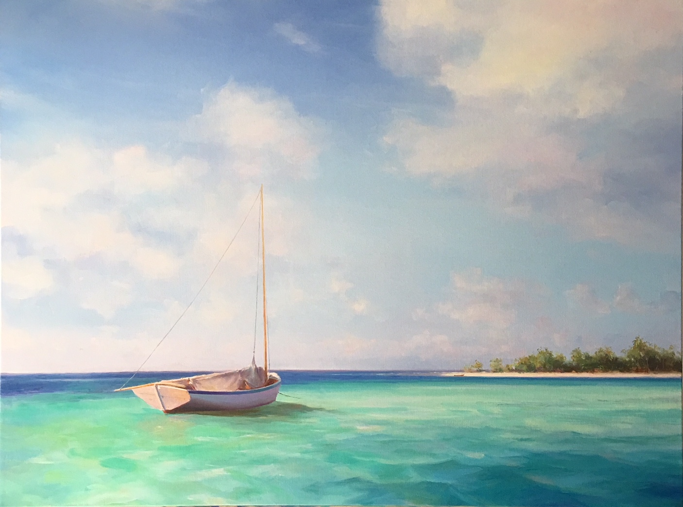 Azure Island 30x40 Oil on Canvas
