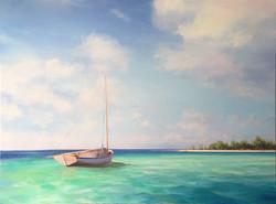 Azure Island 30x40 Oil on Canvas