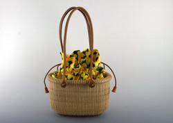 Tote basket 7 inch - mahogany