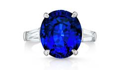 Ceylon sapphire, diamonds, platinum
